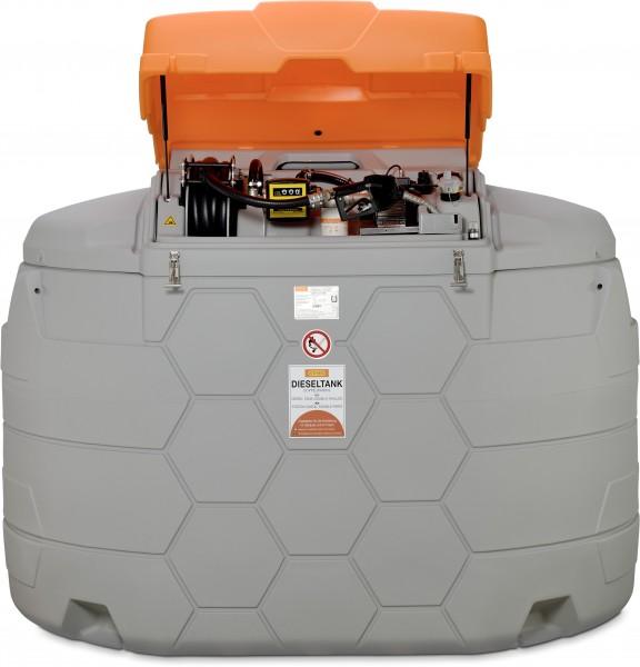 CUBE-Dieseltank Outdoor Premium 5000l mit Zähler, Schlauchaufroller, Kl-deckel