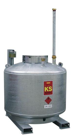 KS-Mobil doppelwandig verzinkt, ADR-Zulassung, ohne Pumpenhaube, ohne Pumpe, mobil + stationär
