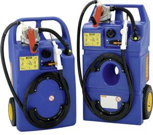 Trolley für AdBlue®, 60 l und 100 l mit Kurbelpumpe und Zapfschlauch