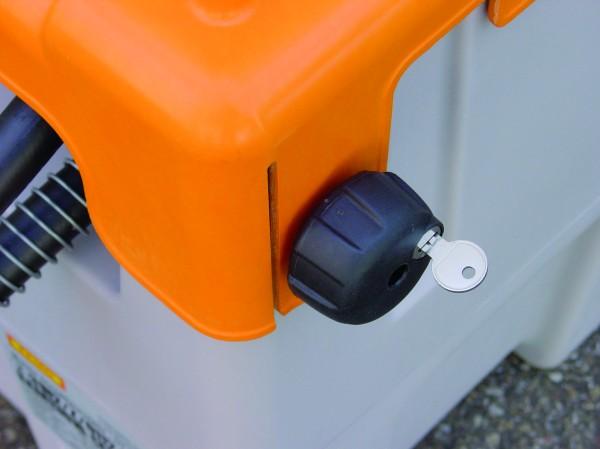 Klappdeckelverschluss für DT-Mobil Easy 125l und 200l, mit zwei Schlüsseln