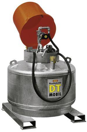 DT-Mobil doppelwandig, verzinkt, 400l mit Pumpenhaube (Abb. mit Zubehör Pumpe)