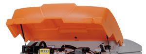 Klappdeckel orange mit Gasdruckfedern