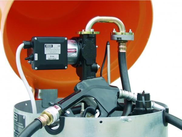 Elektropumpe 24V, 70l/min mit Automatik- Zapfpistole und 4m Befüllschlauch