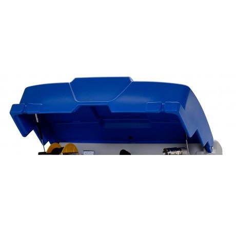 Klappdeckel blau mit Gasdruckfeder