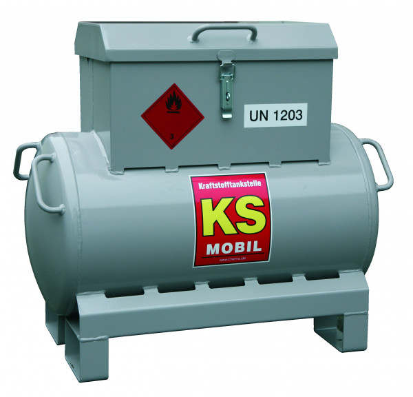 KS-Mobil 90l liegend, Handpumpe, ADR, einwandig lackiert, explosionsdruckfest