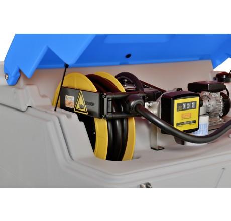 Schlauchaufroller für AdBlue® mit 8m Schlauch aus EPDM, DN19