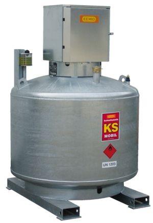 KS-Mobil 400l doppelwandig mit P-schrank verzinkt, ohne Pumpe, mobil + stationär