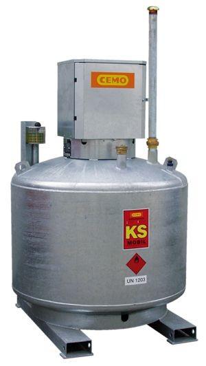 KS-Mobil, ohne Pumpe, mit Pumpenschrank und Entlüftungsrohr (Abb. ähnlich)