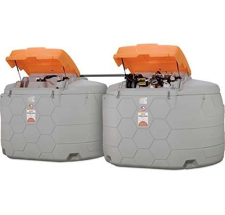 CUBE-Dieseltank Outdoor Premium 10.000l mit CUBE-Erweiterungseinheit I Outdoor