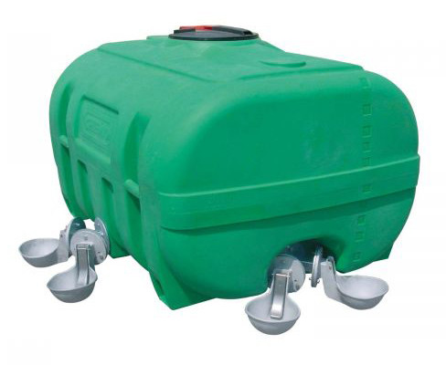 PE-Weidefass grün kofferförmig ohne Schwallwand