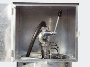 Handpumpe 40 l/min mit Auslaufkrümmer und 4 m Befüllschlauch
