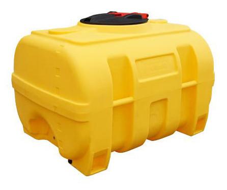 PE-fass Gelb kofferförmig ohne Schwallwand