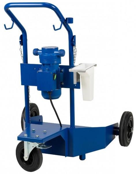 Urea-Trolley für 200 l-Behälter, 230 V mit Kabel, mit Elektro-Membranpumpe