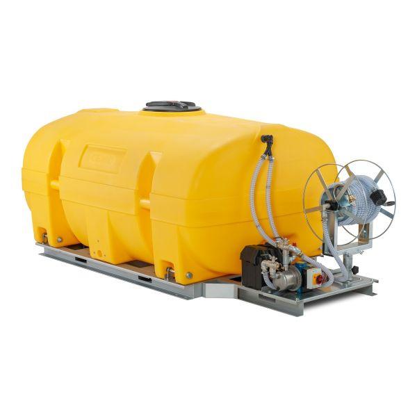 Mobiles Bewässerungssystem BWS 130-PE mit Schwallwand und Elektropumpe