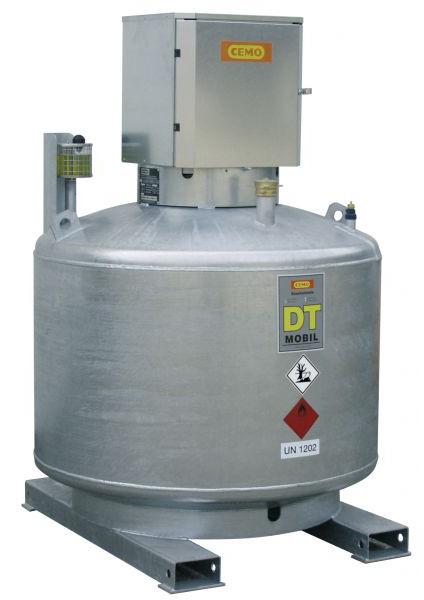 DT-MOBIL einwandig 600l ohne Pumpe mit Pumpenschrank (verzinkt) nach ADR