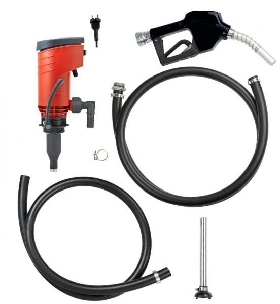 Dieselpumpenset 230 V, 52 l/min nicht selbstansaugend, für 200-1000 l Behälter