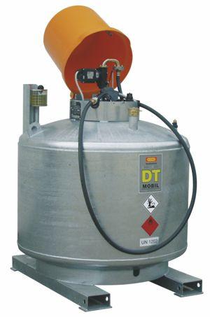 DT-Mobil 980l Dieseltankanlage doppelwandig verzinkt mit Pumpe und Haube