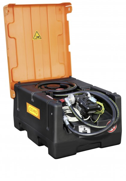 KS-Mobil Easy 120 l mit Elektropumpe (ATEX), Automatik-Zapfpistole und Klappdeckel