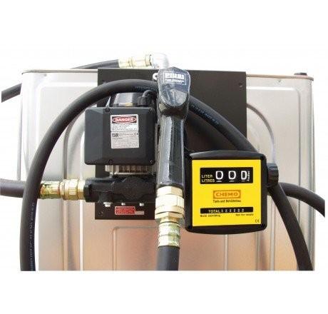 Elektropumpe 56 l/min, 230V, Automatik -Zapfpistole, Zapfpistolenhalter