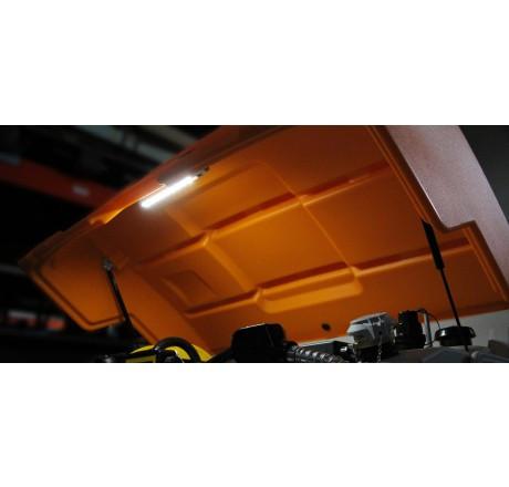 Klappdeckel orange mit Gasdruckfedern und Montagezubehör