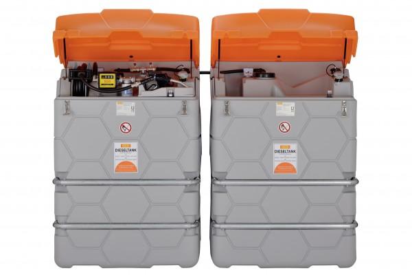 CUBE Dieseltankanlage Indoor mit Erweiterungseinheit I (Abb. mit optionalem Deckel)