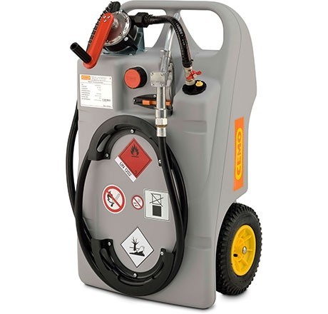 Diesel-Trolley 60l, leise Elektropumpe, Automatik-Zapfpistole, ADR-c