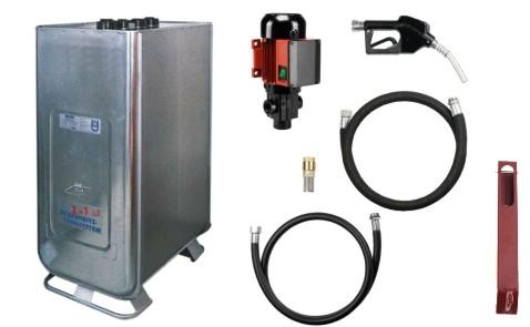Dieseltankanlage 1000 l - Hoftankstelle selbstansaugende Pumpe + Ein/Aus-Schalt.