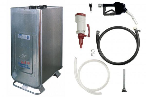 Dieseltankanlage 1000l - Hoftankstelle mit Axialrad-Pumpe